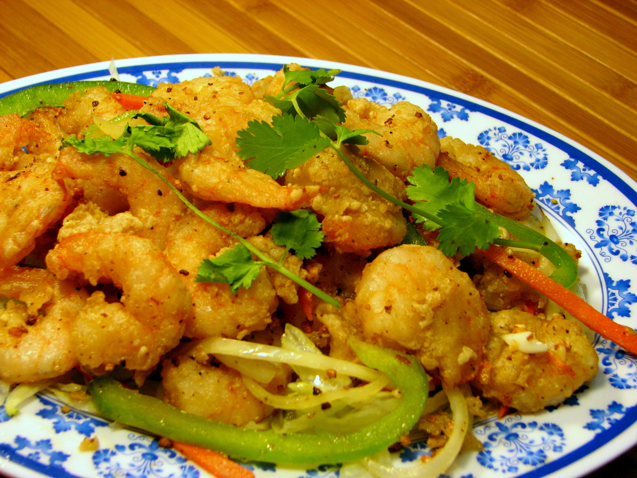 fried prawns with shells pan fried shrimp with shells removed